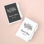 Personalized Floral Silhouette Notebook Favors
