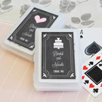 Chalkboard Wedding Personalized Playing Cards
