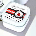 Ladybug Personalized Square Candle Tins