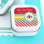 Circus Carnival Party Personalized Square Candle Tins
