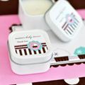 Personalized Square Candle Tins - Cupcake Party