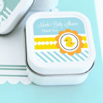 Rubber Ducky Personalized Square Candle Tins