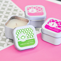 Personalized MOD Pattern Baby Square Candle Tins