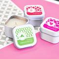 Personalized MOD Pattern Theme Square Candle Tins