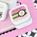 Pink Owl Personalized Square Candle Tins