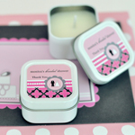 Personalized Square Candle Tins - Wedding Shower