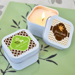 Personalized Fall Square Candle Tins