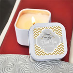 Personalized Winter Square Candle Tins