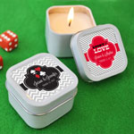 Personalized Vegas Square Candle Tins