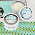 Personalized Round Candle Tins - Beach Party