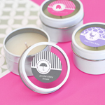 Personalized MOD Pattern Baby Round Candle Tins