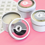 Personalized MOD Pattern Theme Round Candle Tins