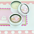 Personalized Round Candle Tins - Pink Cake