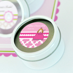 Princess Party Personalized Round Candle Tins