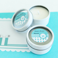 Personalized Round Candle Tins - Something Blue