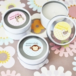 Baby Animal Personalized Round Travel Candle Tins