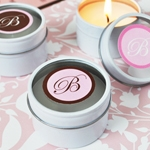 Monogram Round Travel Candle Tins