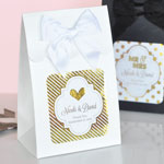 Personalized Sweet Shoppe Candy Boxes - Metallic Foil Wedding (set of 12)
