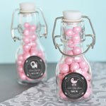 Chalkboard Baby Shower Personalized Mini Glass Bottles