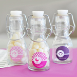 Personalized MOD Pattern Baby Mini Glass Bottles