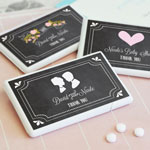 Chalkboard Wedding Personalized Mini Mint Favors