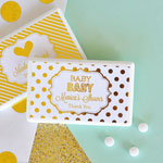 Personalized Metallic Foil Mini Mint Favors - Baby