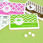 Personalized MOD Pattern Baby Mini Mint Favors