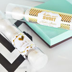 Personalized Metallic Foil Candy Tubes - Baby
