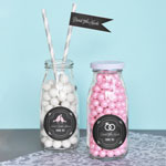 Chalkboard Wedding Personalized Milk Bottles