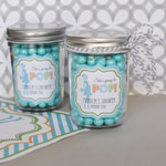 Going to Pop - Blue Personalized Mini Mason Jars