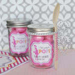 Going to Pop - Pink Personalized Mini Mason Jars