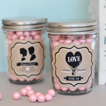 Vintage Wedding Personalized Mini Mason Jars