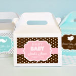 Personalized MOD Pattern Baby Mini Gable Boxes (set of 12)