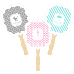 Personalized Paddle Fans - MOD Pattern Baby