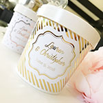 Custom Personalized Ice Cream Containers - Metallic Foil