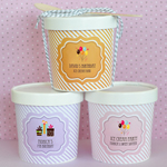 Personalized Birthday Mini Ice Cream Containers