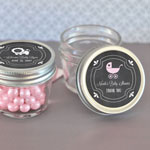 Chalkboard Baby Shower Personalized Small 4 oz Mason Jars