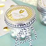 Personalized Metallic Foil Small 4 oz Mason Jars - Baby