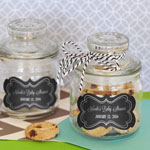 Chalkboard Baby Shower Personalized Mini Cookie Jars