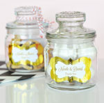 Personalized Metallic Foil Mini Cookie Jars  - Wedding
