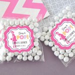 Personalized Going to Pop Pink Clear Candy Bags (Set of 24)