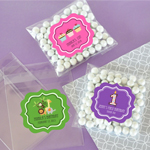 Personalized MOD Kid's Birthday Clear Candy Bags (Set of 24)