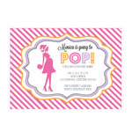 Going to Pop - Pink Invitations