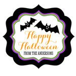 Personalized Spooky Halloween Frame Labels