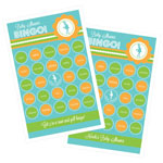 She's Going to Pop Blue Bingo (set of 16)