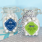 Personalized Kid's Birthday Glass Jar with Swing Top Lid - SMALL