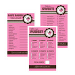 Baby Shower Games (Set of 10) - Pink Baby Shower