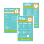 Baby Shower Games (Set of 10) - Going to Pop Blue