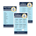 Baby Shower Games (Set of 10) - Nautical Baby Shower