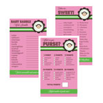 Baby Shower Games (Set of 10) - Pink Monkey